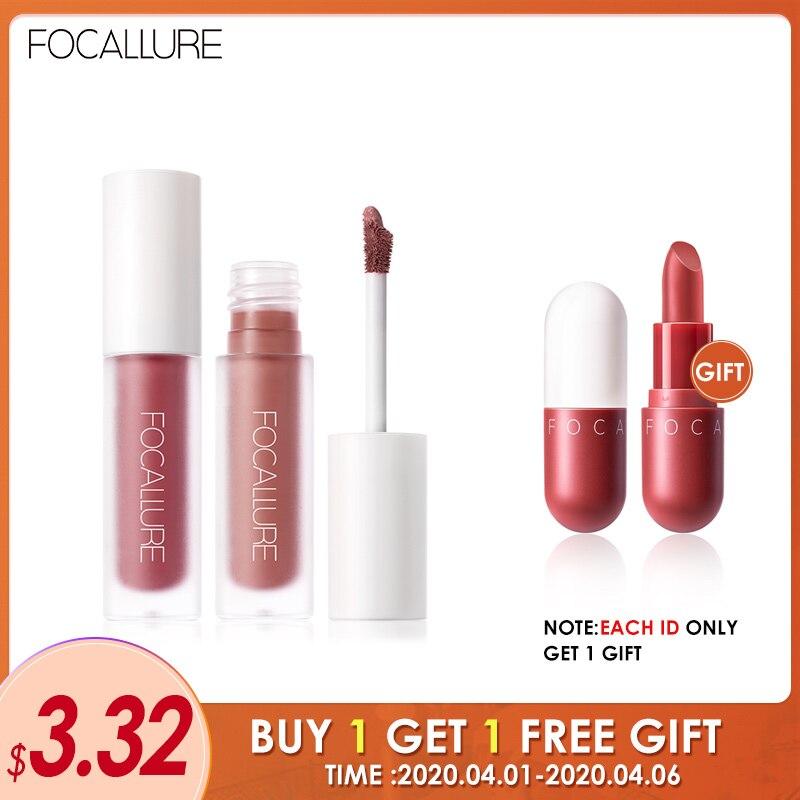FOCALLURE Staymax Matte Lipstick Waterproof Liquid Makeup Lip Tint Keep 24 Hours Cosmetic Velvet Lip Stick