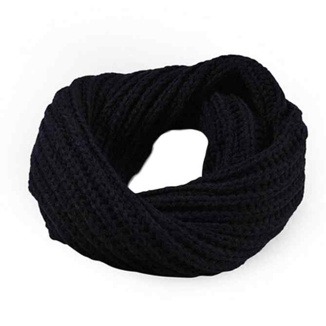 2019 nueva bufanda de punto circular de lana chal Wrap Winter Warm Collar Cowl Snood bufanda larga chal Wrap Ring Knit Neck circle2019 #925
