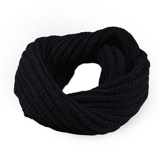 2020 New Knitted Circle Wool Scarf Shawl Wrap Winter Warm Collar Cowl Snood Long Scarf Shawl Wrap Ring Knit Neck Circle2020#10