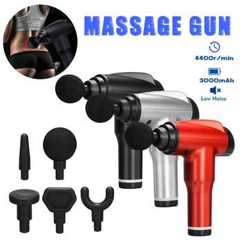 Wielofunkcyjny pistolet powięziowy masaż perkusyjny masaż wibracyjny mięśni masaż relaksacyjny ból Relief masaż LCD działa przeciwbólowo tanie i dobre opinie CN (pochodzenie) NE191065 Mięśni Relex urządzenia Support 3000mAh