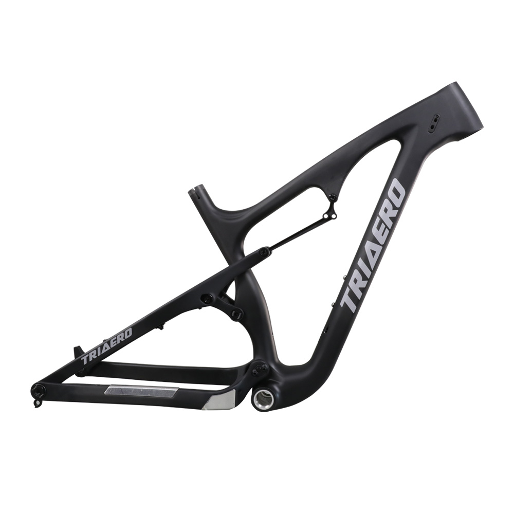 Hot Sale Snow Bicycle Frame Carbon Fat Bike Frame Suspension With Travel 120mm