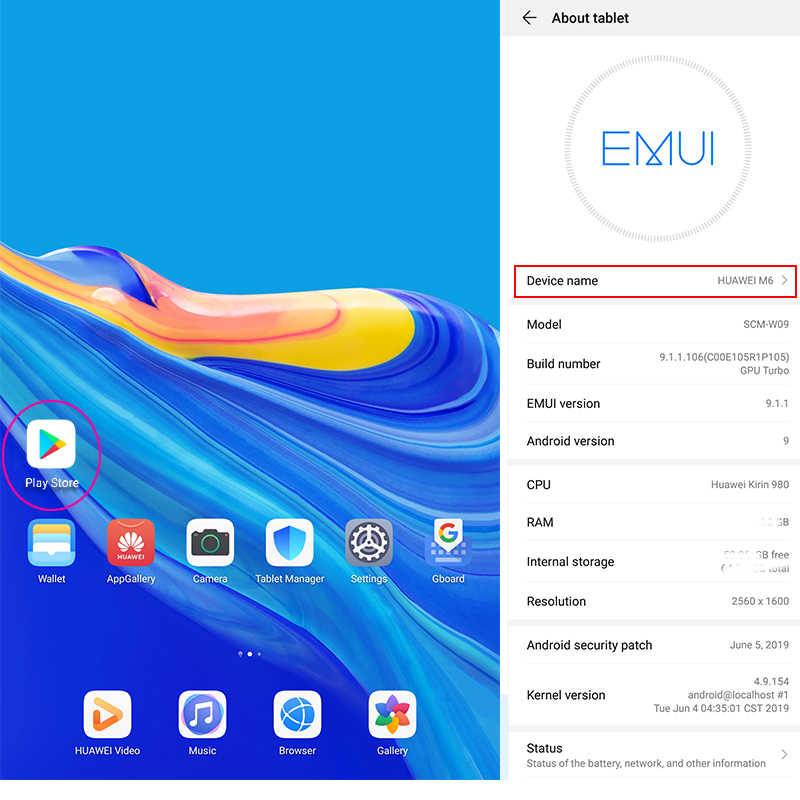 Huawei Mediapad M6 10.8 אינץ WiFi tablet PC קירין 980 אוקטה Core אנדרואיד 9.0 טביעות אצבע Google לשחק GPU טורבו 3.0