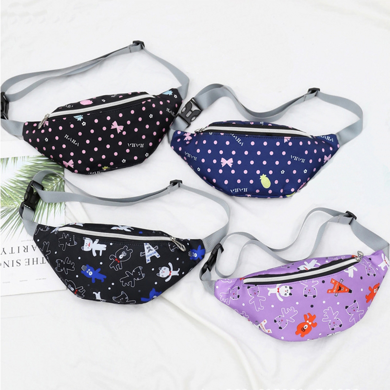 Fashion Girl Fanny Pack Leisure Waist Bag Chessboard Style Design Women's Chest Bags Banana Style Travel Crossbody Bag