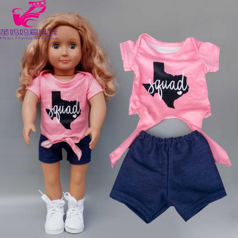 17 Inch Born Baby Doll Clothes Short Pants For 18 Inch Girl Doll Shirt Set Cartoon Dress Dolls Aliexpress