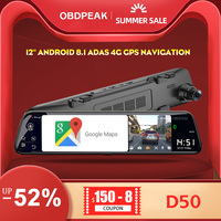 OBDEPAK D80 12 Android 8.1 ADAS 4G 2GB+32GB GPS navigation 1080P dash cam dash camera camera car dvr car camera dashcam