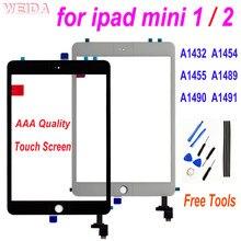 Для iPad Mini 2 1 сенсорный экран дигитайзер с кнопкой Home для iPad Mini1 A1432 A1454 A1455 ipad Mini2 A1489 A1490 A1491 стекло