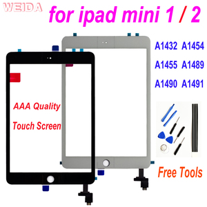 For iPad Mini 2 1 Touch Screen Digitizer with Home Button for iPad Mini1 A1432 A1454 A1455 ipad Mini2 A1489 A1490 A1491 Glass(China)