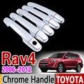 Набор хромированных покрытий на дверную ручку для Toyota RAV4 2006-2012 XA30 2007 2008 2009 2010 2011  автомобильные аксессуары  наклейки для стайлинга автомобил...