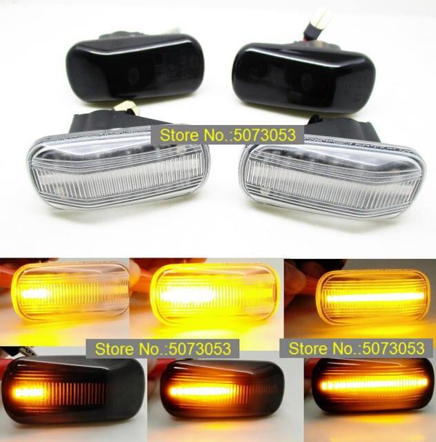 2PCS dynamic Led Side Marker Turn Signal repeater Light lamp For Honda Civic Acura S2000 Integra Accord RSX DC5 NSX NA1 NA2