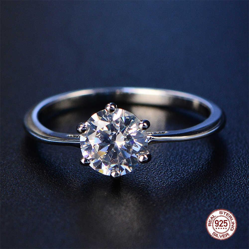 2019 ใหม่ Aquamarine แหวนอินเทรนด์ Blue Sapphire แหวนเงิน 925 เครื่องประดับอเมทิสต์แหวนเงินแหวน