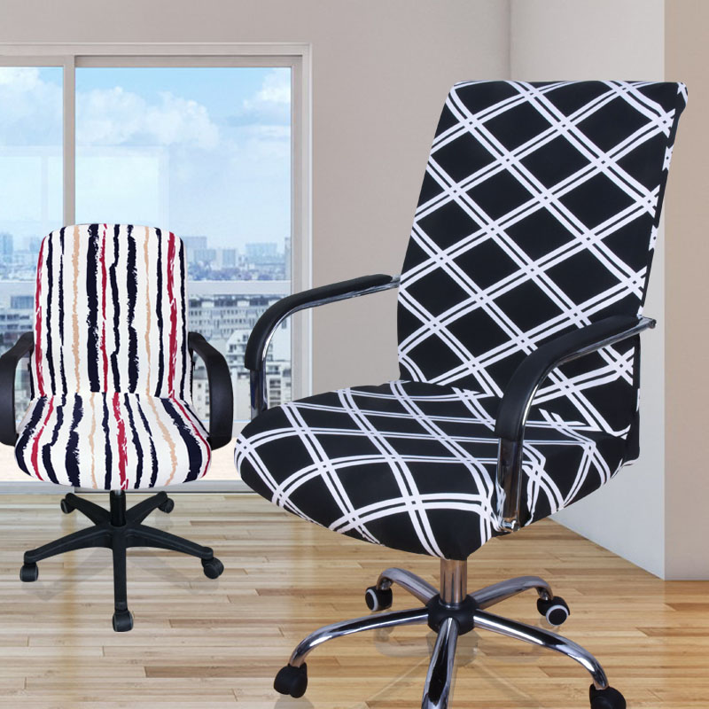 Floral Print Spandex Computer Chair Cover Big Elasticity Anti-dirty Office Chair Cover Easy Washable Removeable