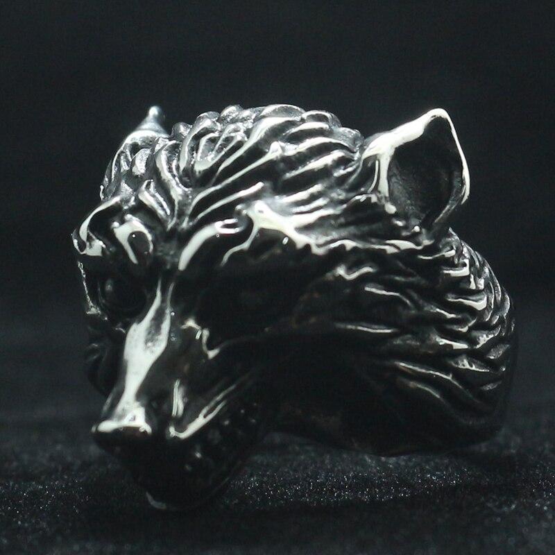 Размер от 7 до 15 унисекс 316L нержавеющая сталь крутое новейшее классическое кольцо с волком