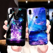 Tempered Glass Phone Case For Meizu M9 M8 note V8 M16 16 plus Cover glass Rose flower case for meizu 8 9 pro cover