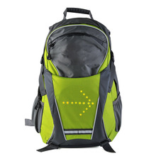18L Cycling Bicycle Bike Backpack LED Turn Signal Light Reflective Bag Pack Outdoor Safety Night Riding Running Camping