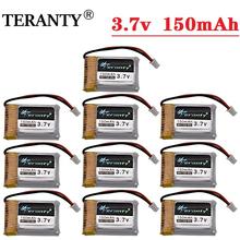 TERANTY 1 2 3 5 10 sztuk 3 7V 150mAh 30C drony bateria do H20 3 7V bateria Lipo dla Syma S8 M67 U839 części zamienne do quadcoptera RC cheap CN (pochodzenie) NONE