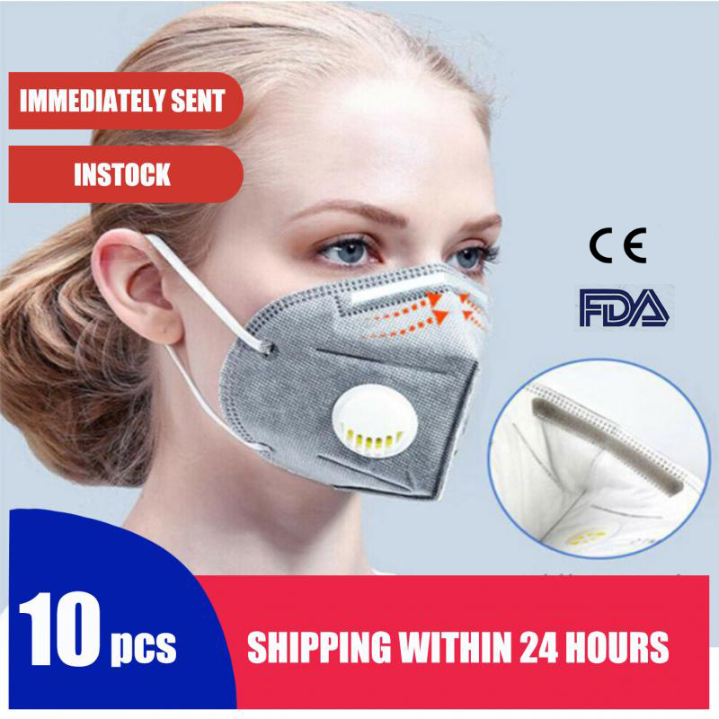 10PCS N95 Mask Breathable FFP2 Anti Dust Mask - Valved Face N99 Respirator Reusable For Using Protection - Sanitary Convenient