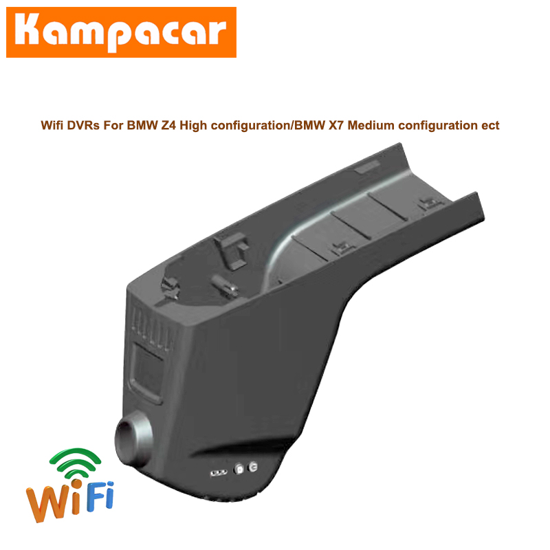 Kampacar Car Wifi DVR <font><b>Dash</b></font> Cameras For BMW Z4 High Configuration sDrive 25i X7 With Light Sensor <font><b>2019</b></font> Dual Lens <font><b>Dash</b></font> <font><b>Cam</b></font> HD Dvrs image