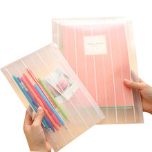 Storage-Bag Pencil-Case Clear Stationery School-Supplies Waterproof Document 2-Sizes