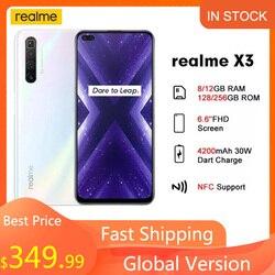 Realme X3 6.6'' 8GB 128GB 64MP Snapdragon 855+ 120Hz Display 64MP 60X SuperZoom 4200mAh 30W Dart Charge 4G NFC Mobile phone