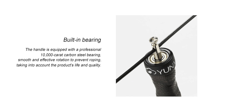YUNMAI Adjustable Ball Bearing Jump Rope(with optional weighted handles)