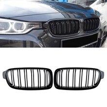 Calandre avant pour BMW F30 F31 2012 2018 série 3 320i 325i 328i 335i, noir brillant