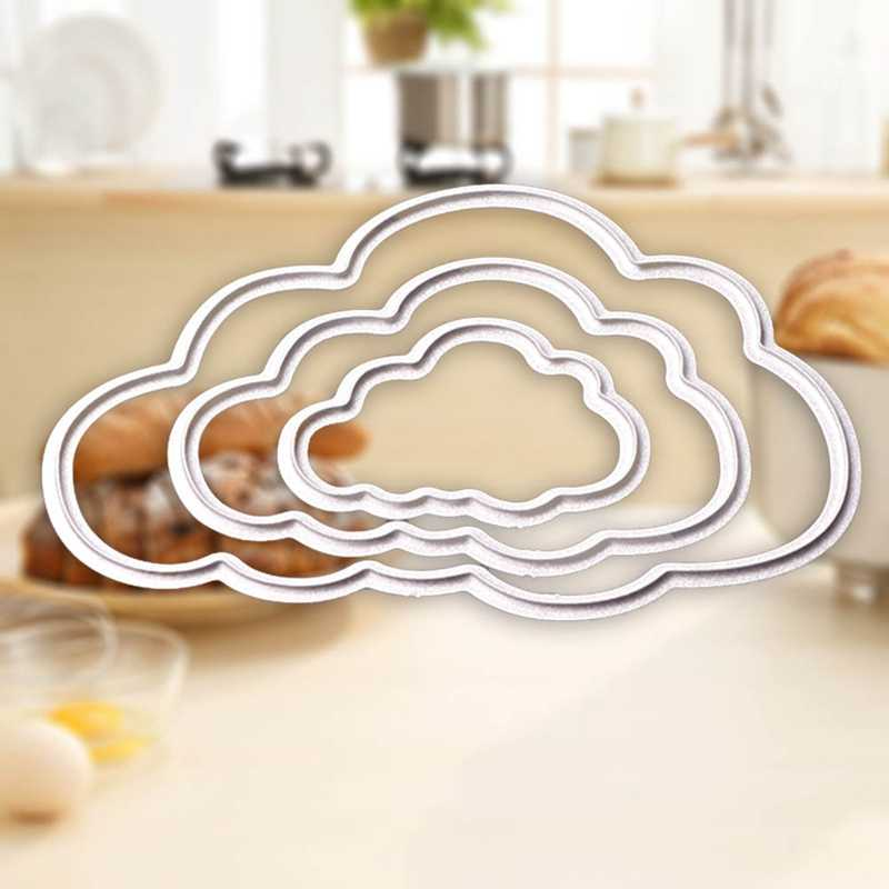 3 Pcs Clouds Metal Die Cutting Dies Scrapbooking Embossing Folder Suit For Shot Cutting Machine