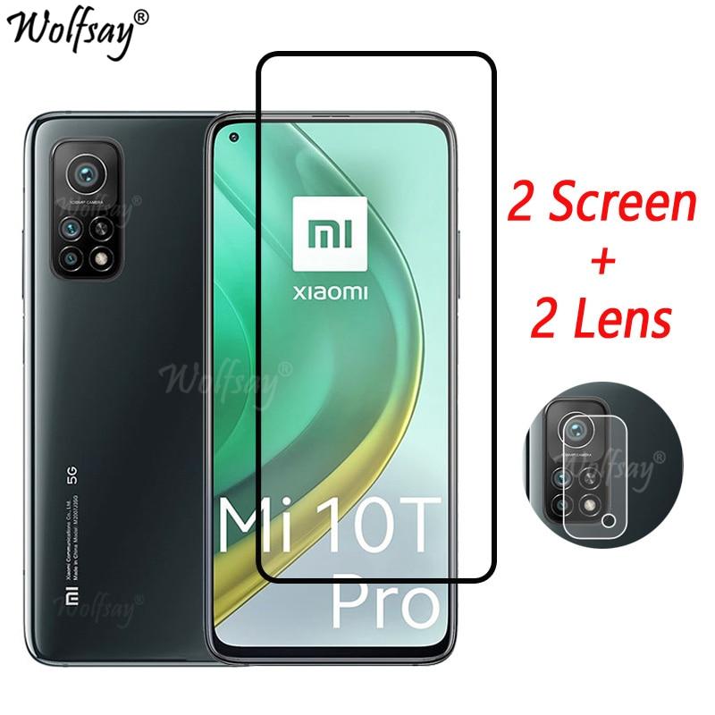 Закаленное стекло с полным покрытием для Xiaomi Mi 10T Pro 5G, Защита экрана для Xiaomi Mi 10T Pro, стекло для камеры Mi 10T Pro, зеркальное стекло