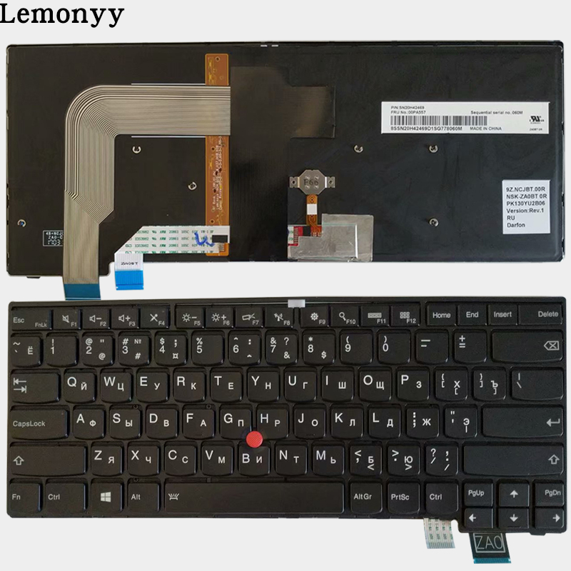 NEW Russian laptop Keyboard For for Lenovo Thinkpad T460S T470S Backlit RU black Keyboard SN20H42469 00PA55
