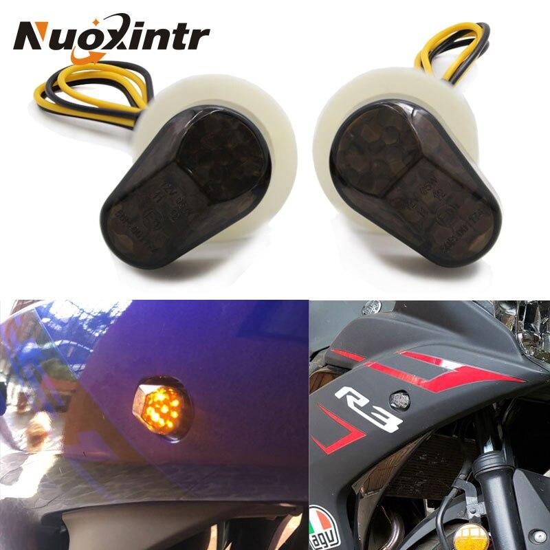 Nxuointr Motorcycle Turn Signals LED Indicator flashing photoflash Lights Bulb for Yamaha YZF R1 R6 R6S R3 R6S FZ1 FZ6 FZ8 FAZER