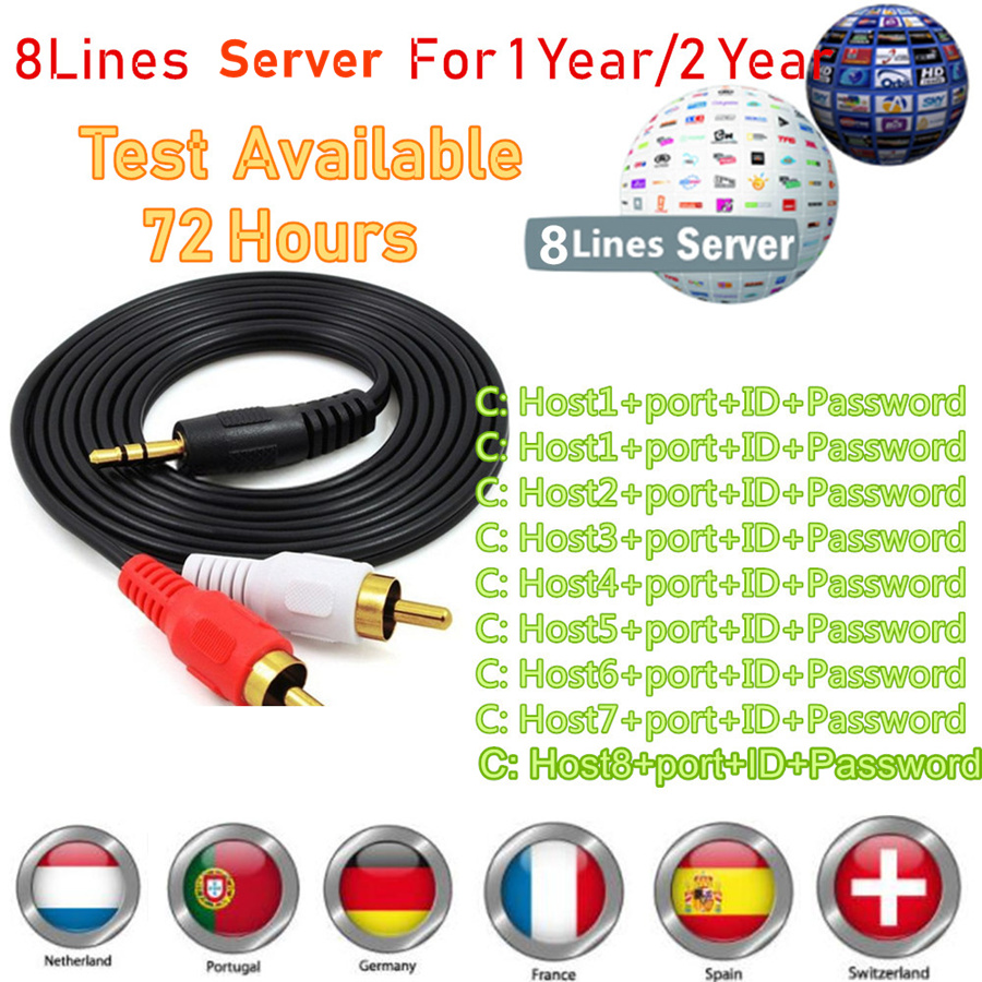 Cccam Europa Oscam Europe Polska 8 Clines Server Free Dazn HBO For Portugal Poland Germany Enigma2 Receptor Dvb S2 Sat Receiver