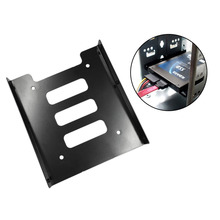Hot Newest Professional 2.5 Inch To 3.5 Inch SSD HDD Metal Adapter Rack Hard Drive SSD Mounting Bracket Holder For PC Black цена