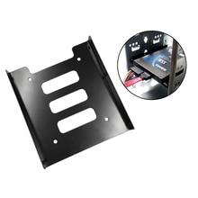 цены на Hot Newest Professional 2.5 Inch To 3.5 Inch SSD HDD Metal Adapter Rack Hard Drive SSD Mounting Bracket Holder For PC Black  в интернет-магазинах