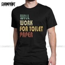 Vintage va a trabajar para la camiseta de papel higiénico para hombres camisetas de algodón Panic 2020 Stay Home Camiseta de manga corta regalo Idea Tops