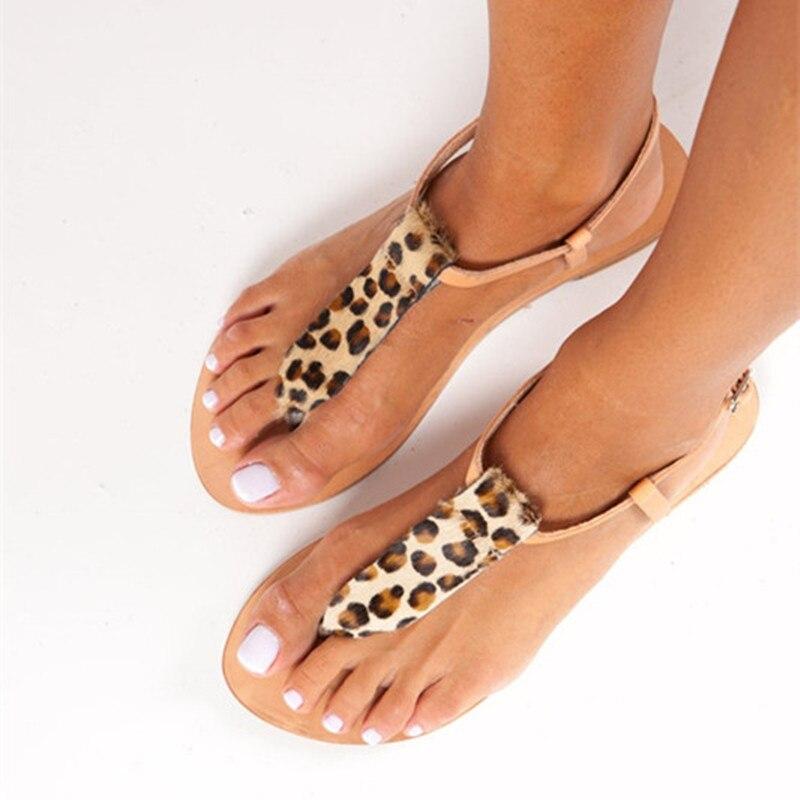 New Women Sandals Summer Shoes Large Size Fashion Simple T-shaped Sandals Greek Bridal Sandals Ladies Shoes