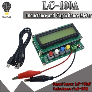 Digital LCD Capacitance meter inductance table TESTER LC Meter Frequency 1pF-100mF 1uH-100H LC100-A + Test clip(China)