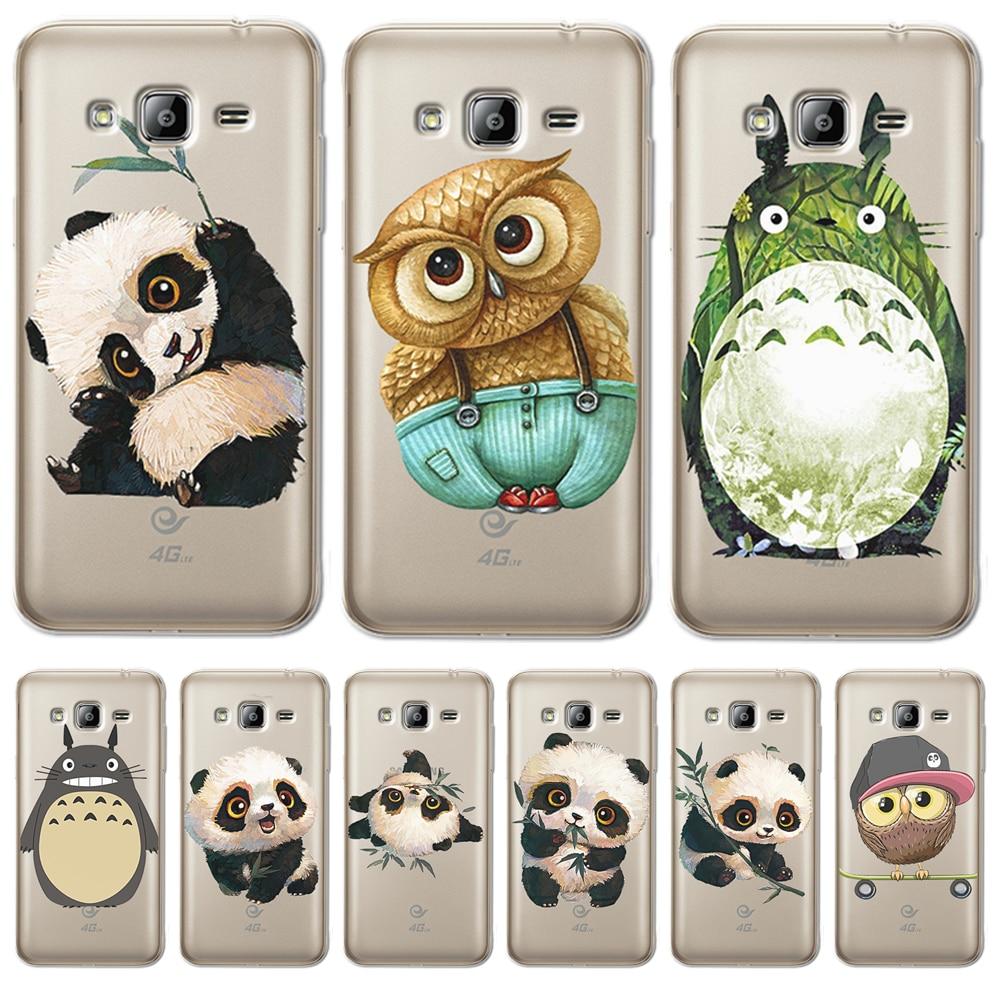 Totoro Panda cartoon For Samsung Galaxy J3 J4 J5 J6 J7 J8 Plus 2016 2017 2018 J2 Prime phone Case Cover Coque Etui funda capa