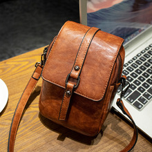 High Quality PU Women Handbag Luxury Messenger Bag Soft Pu Leather Shoulder Fashion Ladies Crossbody Bags Female Retro Vintage
