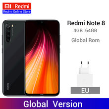 "Versão global redmi nota 8 4 gb 64 gb 48mp quad câmeras smartphone snapdragon 665 octa núcleo 6.3 ""fhd tela 4000 mah 4 k vídeo(China)"