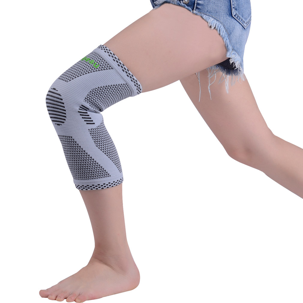 Bamboo Fiber Sports Knee Support Breathable Compression Knee Brace Protection For Athletes Four-side Stretch High Elasticity