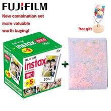 Bộ máy Chụp ảnh Lấy Ngay Fujifilm Instax Mini Bộ Phim 3 Inch Trắng Edge 64 Túi Giấy In Ảnh Album cho Polaroid LiPlay Mini 9 8 7S 25 70 90 Ngay