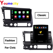 4G RAM/Eight Core/Android 9.0 Car Multimedia Player DVD Gps For Honda Civic 2007 2008 2009 2010 2011 2016 With WIfi DSP Carplay