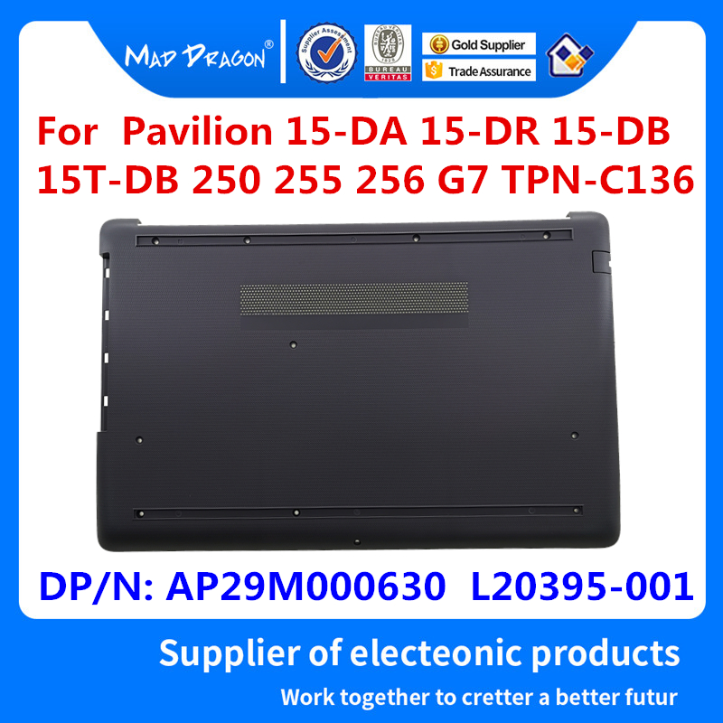 New Original Base Bottom Case Bottom Cover Assembly Black Ash For HP 15-DA 15-DB 15-DR 250 255 256 G7 AP29M000630 L20395-001