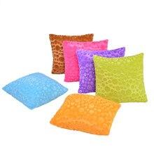 43x43cm Super Soft Short Plush Square Sofa Cushion Cover Throw Pillow Case Home Decor Pillowcase cartoon christmas square cushion throw pillow case