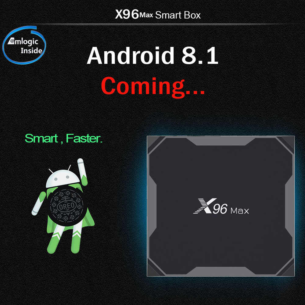 X96Max Smart TV BOX Android 8.1 Amlogic S905X2 LPDDR4 Quad Core 4 GB 32 GB 64 GB 2.4G & 5 GHz Wifi BT 1000 M 4 K Set top box X96