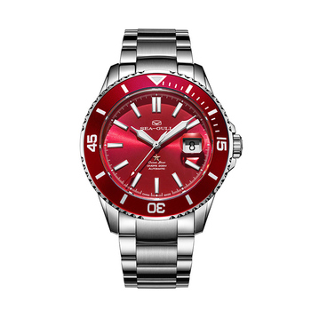 Seagull Watch 2021 Ocean Star Automatic Mechanical300m Waterproof Diving Sport Watch  Red Dial 816.92.6113 2