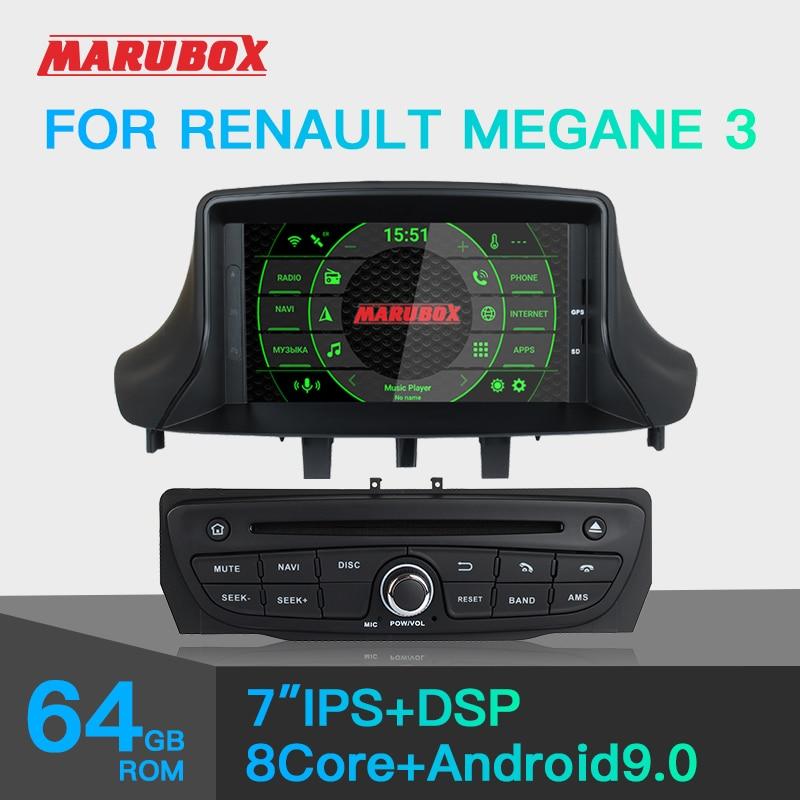 Marubox KD7237 DSP, 64 GB, Head Unit for Renault Megane 3, Car Multimedia Player, Android 9.0Car Multimedia Player   -
