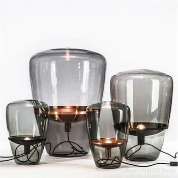 Lustre-Lámpara Led De mesa moderna De cristal, sala De estar moderna para...