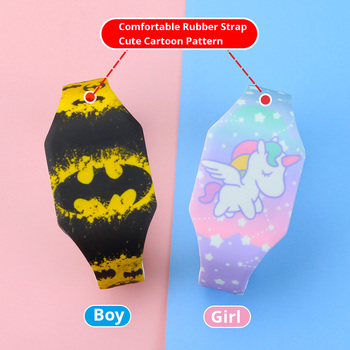 2020 Luminous Kids Watches Girls Cartoon Pattern LED Boys Watch Silicone Strap Reloj Infantil Wristwatches 2
