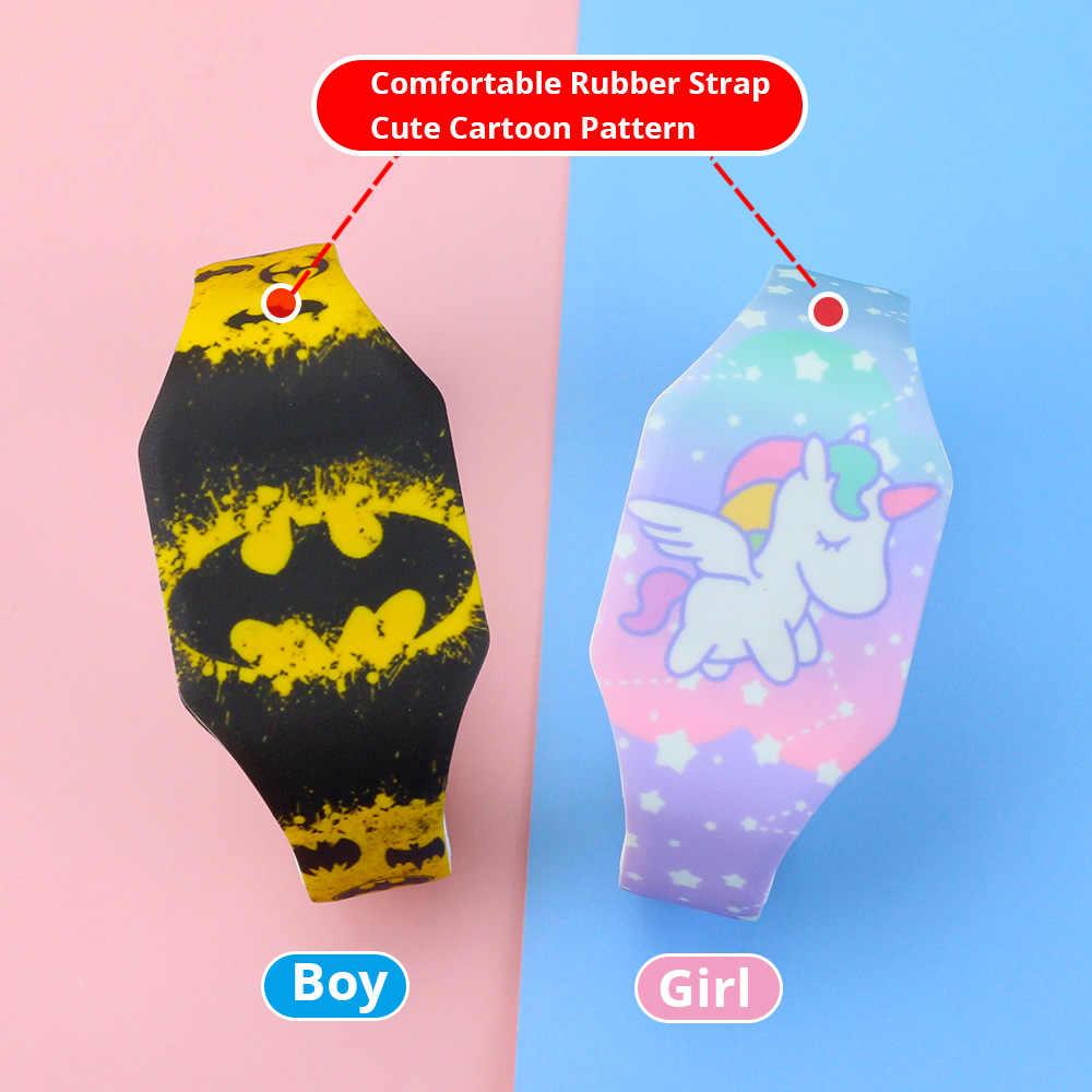 2020 lumineux enfants montres filles dessin animé modèle LED garçons montre Silicone bracelet Reloj Infantil montres