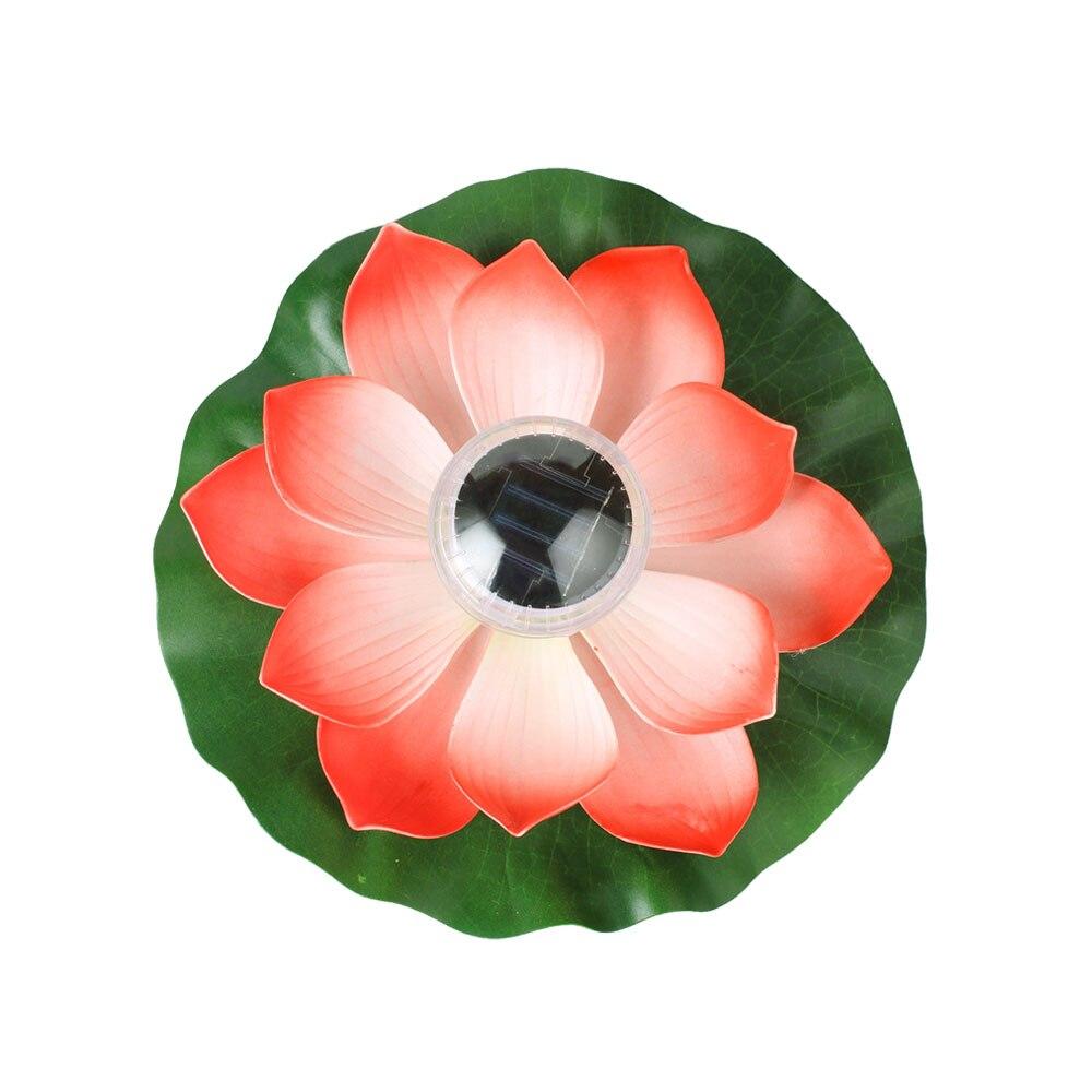 flutuador de agua lotus luzes patio ao 05